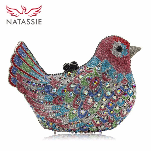 wholesale- natassie women bird shape evening bags ladies crystal party bag female wedding diamonds purses (407753084) photo
