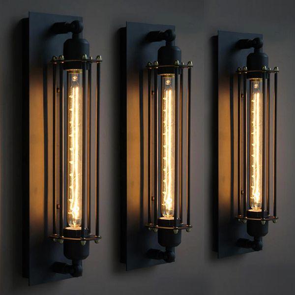 Loft vintage wall lamp american indu trial wall light edi on t30 e27 bed lighting eye lantern wall conce light home decoration lighting