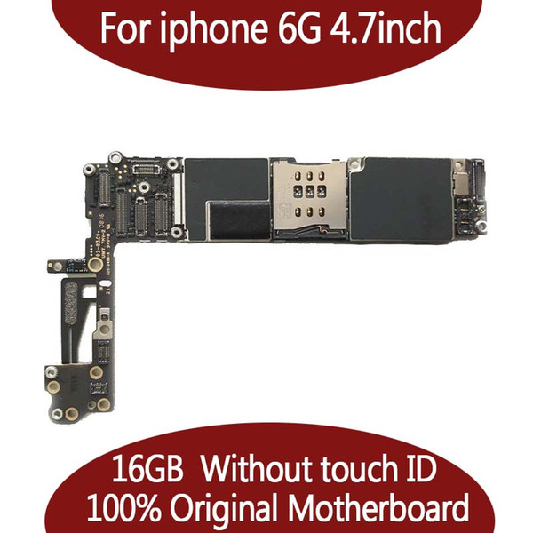 Te ted good working for iphone 6 motherboard 16gb 64gb logic board unlocked no touch id 100  good working mainboard io   y tem card