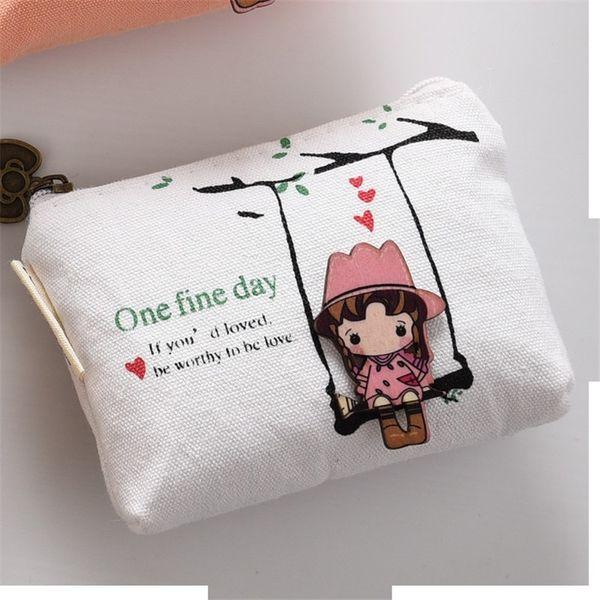 coin purse canvas girl coin key holder (423546989) photo