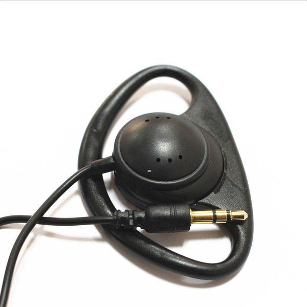 100 pack black  tereo hook earphone 1 bud earpiece headphone  for travelling guide metting and tran lation