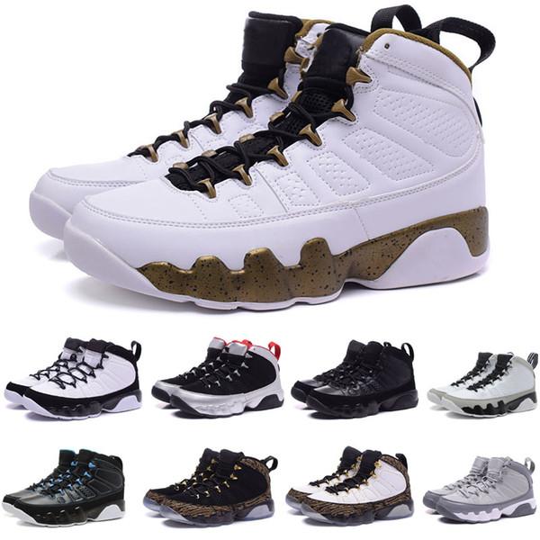 Мужские баскетбольные кроссовки Nike Air Jordan LA BRED BLACK WHITE классические 9s IX Спортивные