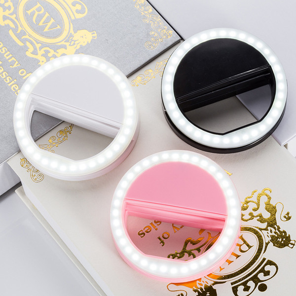 wholesale mobile phone selfie ring light flash lens beauty fill light lamp portable clip for p camera for cell phone smartphone