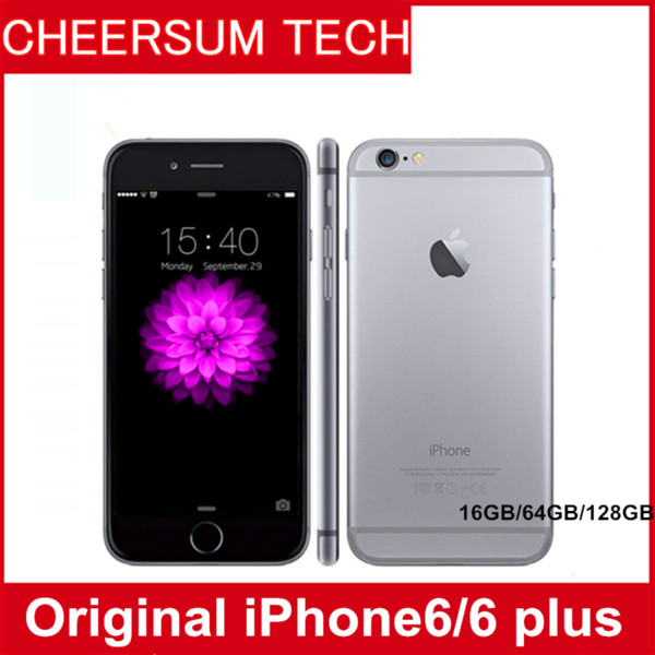 Iphone 6 plu  unlocked original apple iphone 6 plu  without fingerprint lte mobile phone 5 5 quot  io  1gb ram 1080p 8mp refurbi hed cellpho