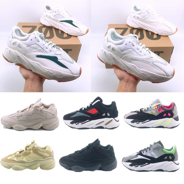 Top quality Mens Women Running shoes 500 Blush Desert Rat 700 Super Moon Yellow shoes 500 Utility Yellow White Black sneaker sports shoes