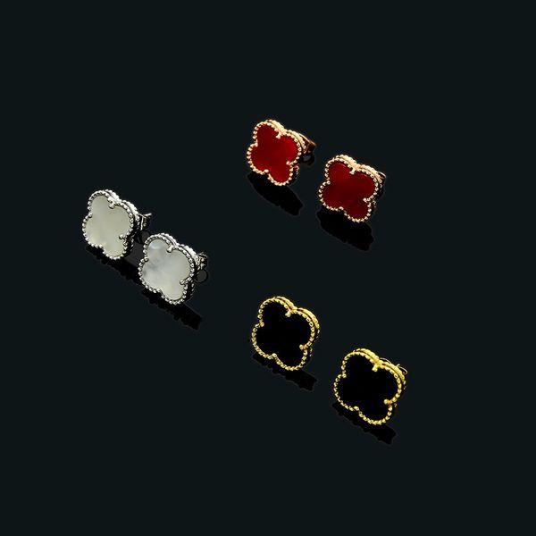 Высокое качество ювелирных изделий оптом Мини Четыре Листа Цветок Стад МИНИ черн фото