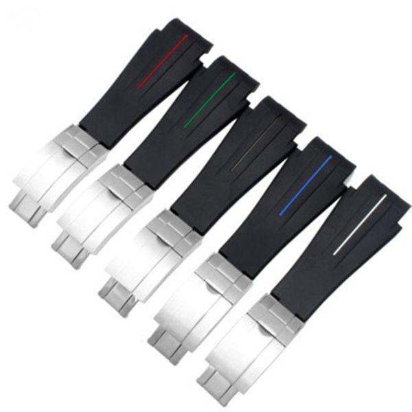 21мм силиконовый резиновый ремешок для часов для Rolex DeepseaBand водонепроницаемый браслет