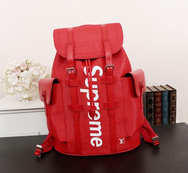 Классическая мода дорожная сумка, бренд-дизайнер 2018 Мода кожаный рюкзак L0114 разме