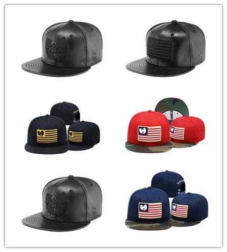 Дешевые Новые Моды Ву Тан Мужские Женщины Флаг Snapback Hat Cap Черный Бейсбол Snapbacks Clan Str фото
