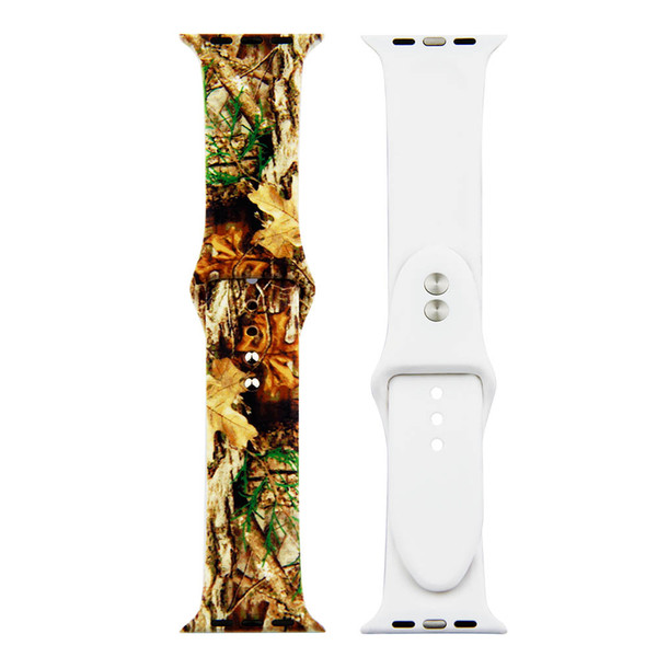 Sporty band  for apple watch band  erie  4 40mm 44mm foral pattern  oft  ilicone  trap for iwatch 38mm 42mm  erie  3 2 1