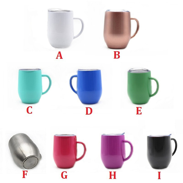12oz temle wine egg cup wine gla e vacuum in ulated mug tainle teel with lid handle handgrip wine gla e cup 9 color