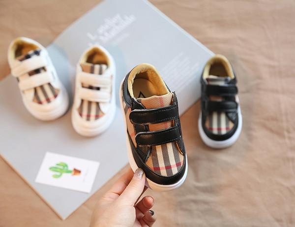 2018 новая весна лето мода дизайнер детская скейтбординг обувь дети повседневная крюк петли обувь мальчиков шить шаблон обувь