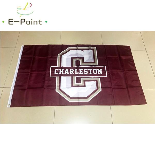 Флаг NCAA колледжа Чарльстона Cougars полиэстер флаг 3ft * 5ft (150см*90см) флаг баннер украше фото
