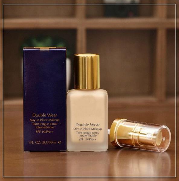 Высокое качество новый макияж двойной износ Фонд жидкость 2 цвета оставаться на месте 30 мл маскирующее крем и природных длительный Бесплатная доставка