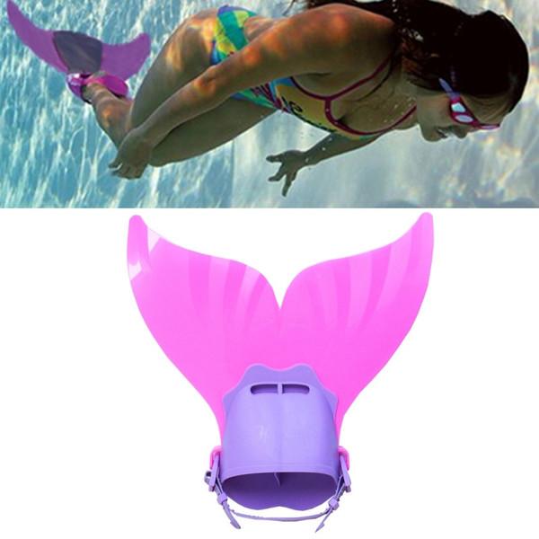 Whole ale adju table mermaid wim fin diving monofin wimming foot flipper mono fin fi h tail wim training for kid children chri tma gift
