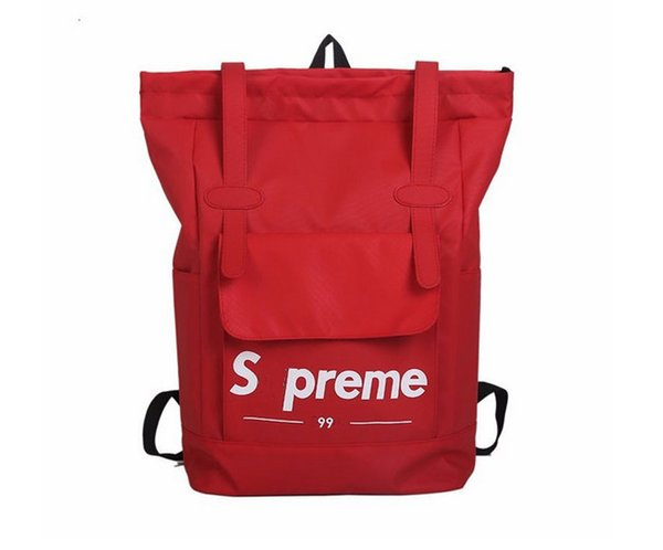 Sup reme backpack large capacity backpack, girls and boys sports travel bag, popular logo laptop bag (alice_track) Provo Buy Ad