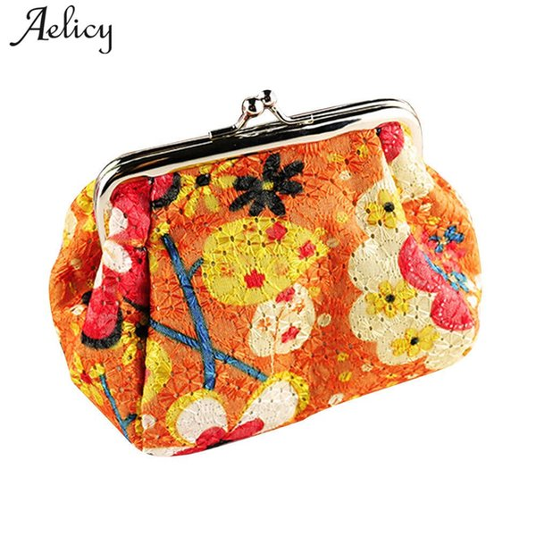 aelicy luxury women coin purse pouch lady retro vintage hobos flower small wallet hasp purse organizer card holder clutch bag (417411974) photo