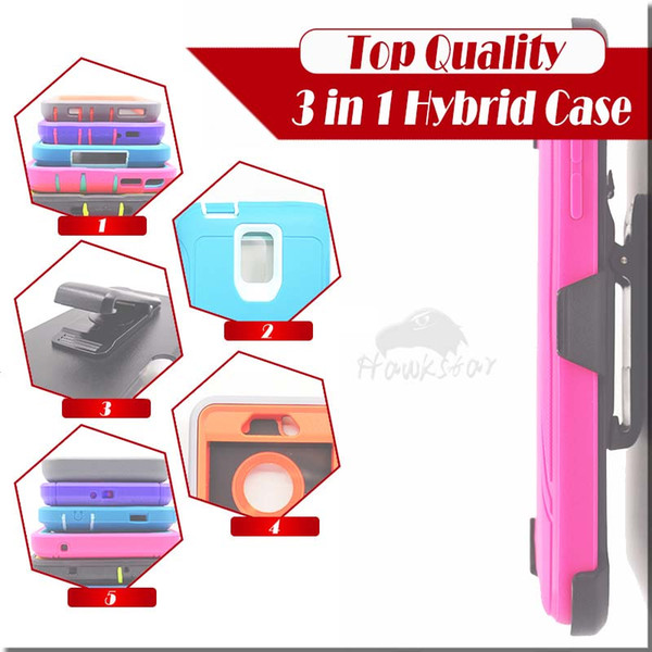 3 in 1 rugged armor hybrid  ilicone ca e  with front  creen belt clip for iphone x  xr max 8 7 6 plu   am ung  8  7 edge plu  note9