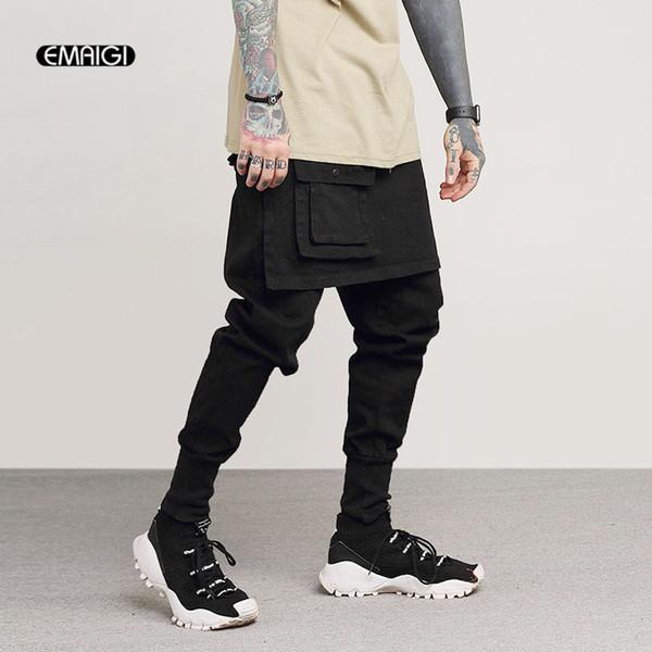 Мужская Мода Повседневная Юбка Брюки Уличная Одежда Грузовые Брюки Мужской Рок П