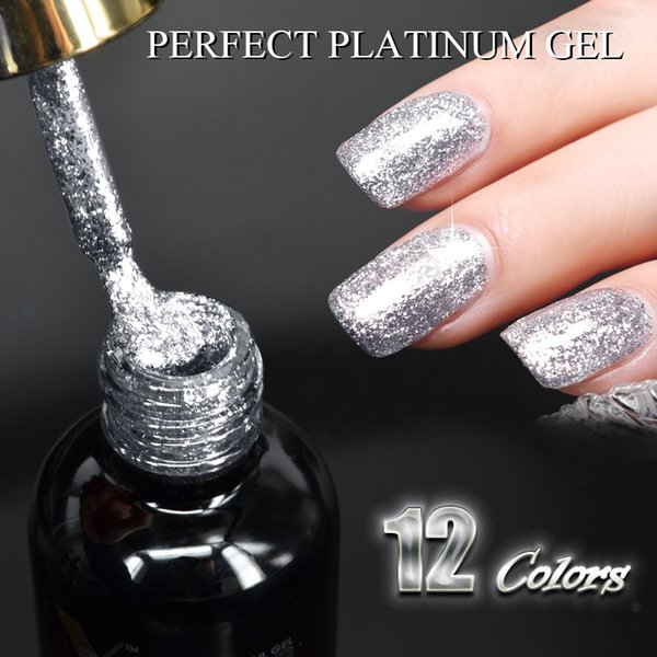 #60752 2019 New supply nail art 12ml 12 color supper diamond shining glitter sequin starry platinum paint gel