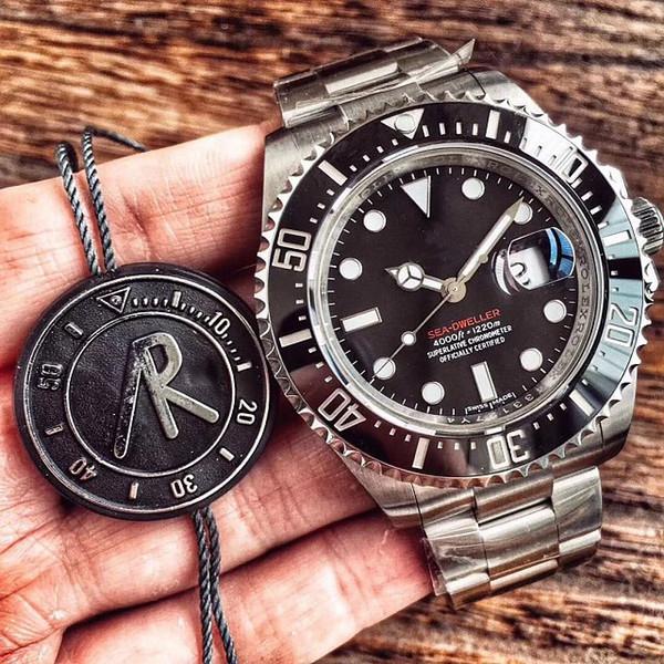 Luxury ar factory 43mm red  ea  ea dweller ceramic 904l  teel  wi   eta 2824 movement automatic men  watch black watche