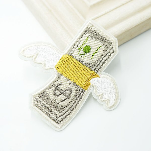 Летающие Деньги Американский Доллар Патчи Ткань Патч Вышитые Милые Значки Хиппи