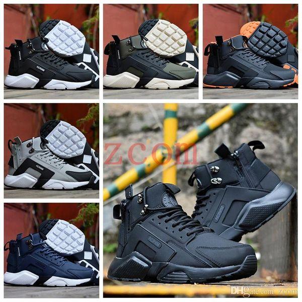 Новое поступление мужчины Huarache X Acronym City MID кожаные кожаные кроссовки huaraches 6 бренд фото