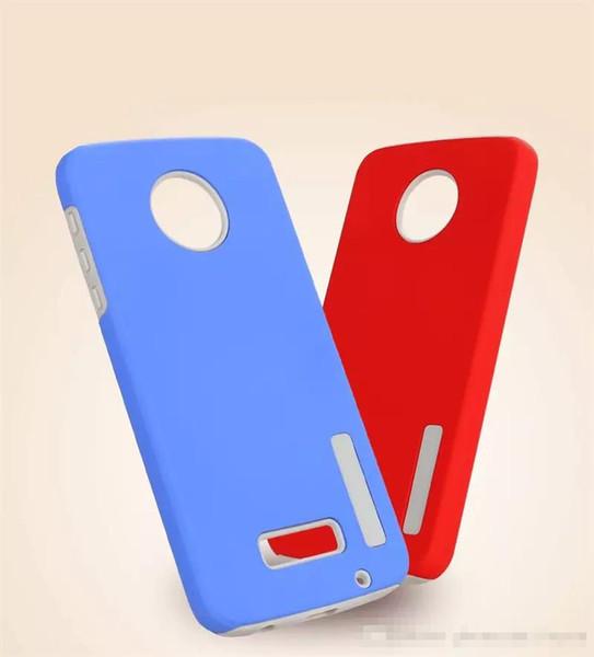 Dual layer rugged armor phone ca e  for motorola moto e5 e5 plu  x4 z2 play g5  plu  new hybrid pc cover