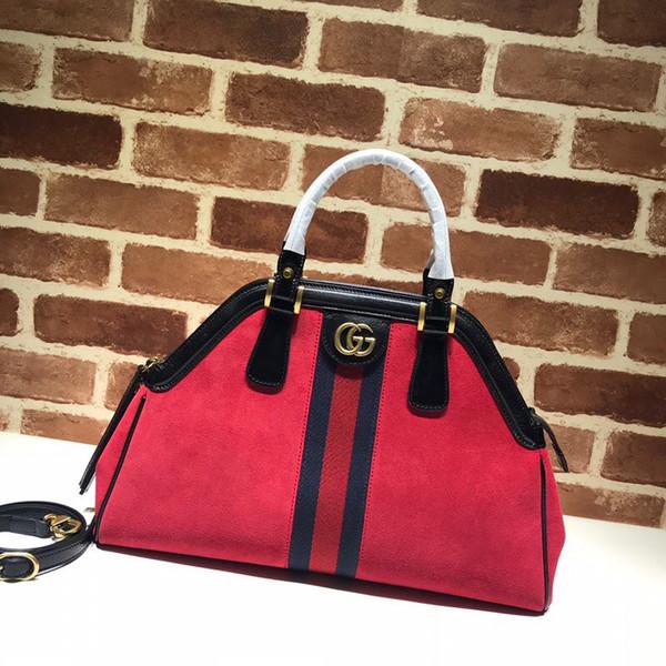 2019 новый женский мешок замши телячьей кожи красный и синий лента наклонная сумка плеча