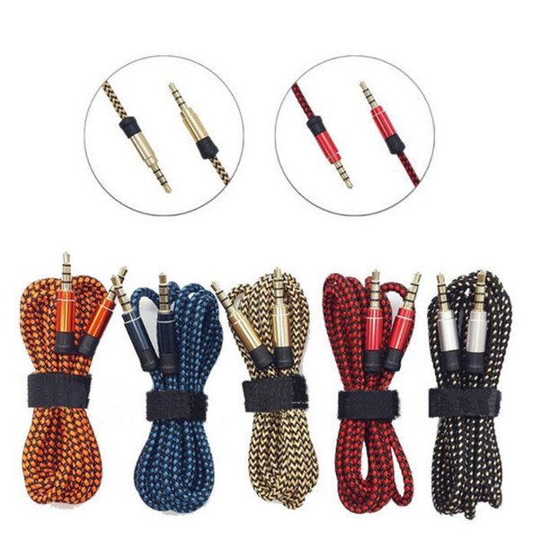 1 5m 3 5mm male to male  tereo aux auxiliary braided fabric audio cable for iphone  am ung for mp3 pc  peaker