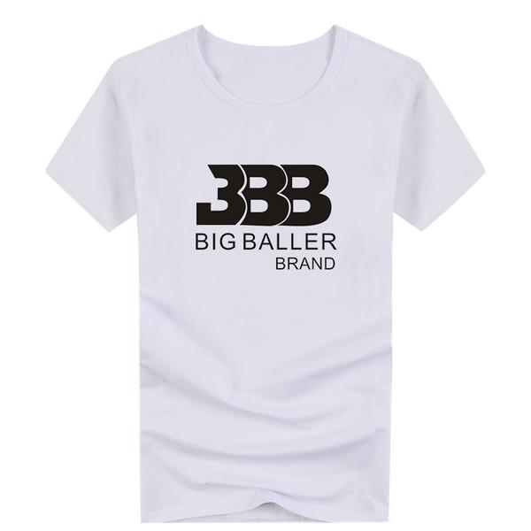 Beyaz Siyah T-shirt Top Basketbol Erkek Pamuk Kısa Kollu Gevşek BBB Tshirt erkek t-shirt S-4XL