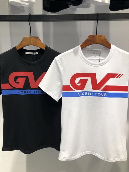 Азиатский размер сплошной цвет 100% хлопок футболка мужская черный белый футболки