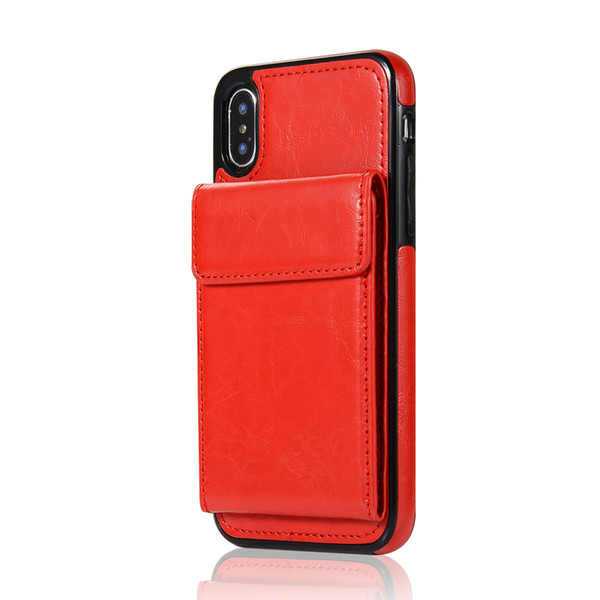 Red x max xr x wallet leather ca e phone card functional ca e cover dhl hipping