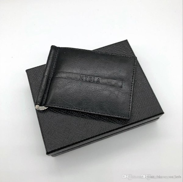 latest casual men's leather luxury wallet m b card case double discount black short credit card holder purse mb pocket high quality (415683971) photo