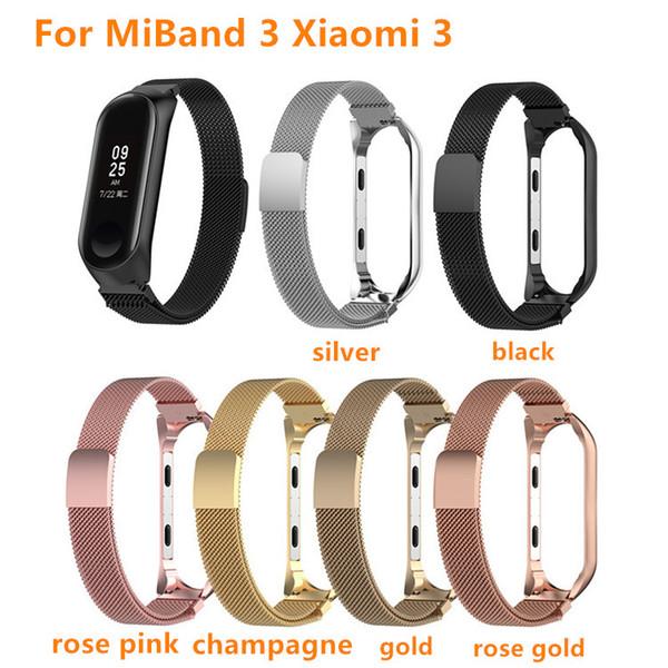 DEFFRUN Stainless Steel Wrist Strap for XIAOMI Miband 2