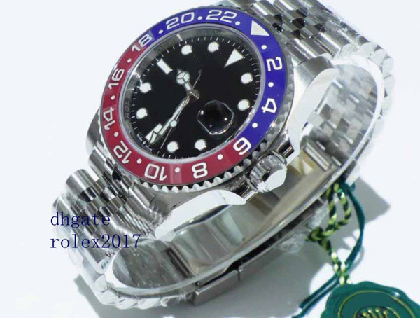 Men 039 luxury product cla ic erie 40mm gmt 126710 blro 126710blro pep i red blue bezel a ia 2813 movement automatic watche