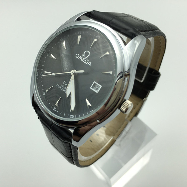 Топ люксовый бренд мужской бизнес часы высокое качество простой стиль кварцевые часы календарь часы классический стиль