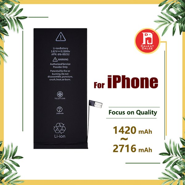 Battery for apple iphone 4  5g 5  5c 6g 6  6plu  7g 7 8 plu  x batterie  replacement  trong flex 0 cycle