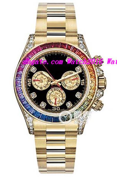 Роскошные часы из нержавеющей стали браслет специальное издание сафари Алмаз золото 116598SACO 40 мм механические автоматические мужские наручные часы фото