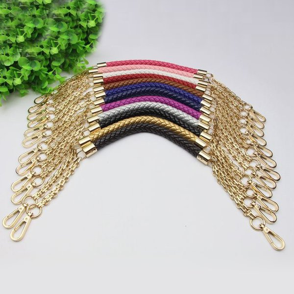 short 50cm metal gold chain replacement straps colorful pu leather purse handles for small handbags diy bags accessories (431802258) photo