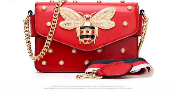 2018 Women Color Splicing Little Bee handbag Fashion Magneti designer luxury handbags purses Casual Shoulder Messenger Bag cross body bag 98