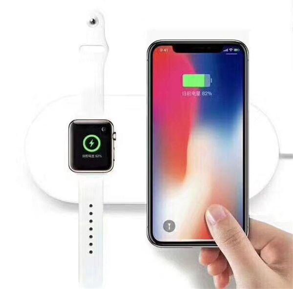QI Беспроводное зарядное устройство 2 в 1 Зарядное устройство для iPhone X iPhone 8 Plus для A