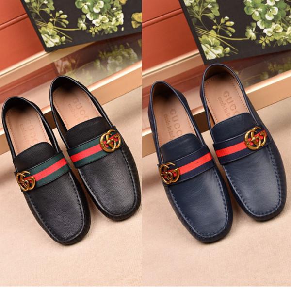 роскошные высокое качество натуральная кожа Мужская обувь мягкие мокасины мокас