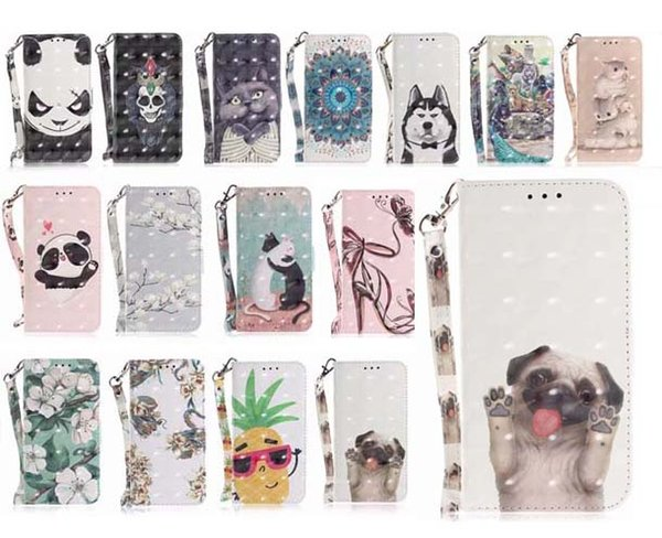 3d painting de ign animal flower wallet flip pu leather ca e with  trap for new iphone 2019 x  max xr 8 7 6  plu   am ung  10 plu  note 10