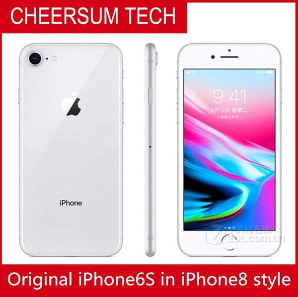 Original iphone 6  in 8  tyle mobilephone 4 7 5 5 inch  how 64gb 256gb box iphone6  refurbi hed in iphone 8 hou ing dhl