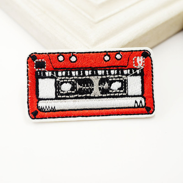 Ностальгия кассета вышивка патчи для одежды шить железа на аппликация патч DIY зна