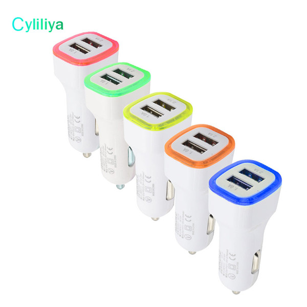 5v 2 1a dual car charger u b port  led light phone adapter charger for iphone x   am ung  9 htc lg  martphone