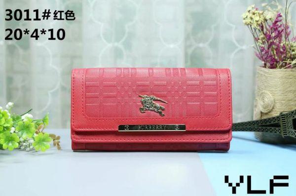 3011 # роскошный кошелек случайный длинный дизайнер карты карманные карманные коше фото