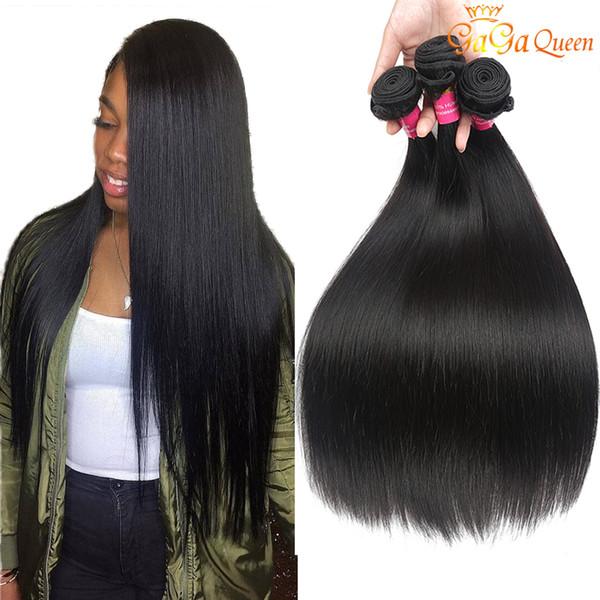 10 bundle  gaga queen hair peruvian  traight virgin hair unproce  ed peruvian brazilian indian  traight human hair bundle  natural color