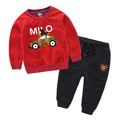 Детские детские наборы спортивный костюм milo design милые детские пиджаки с капюшоном + брюки / комплект мультфильм смешивать цвета челнока 2шт новый